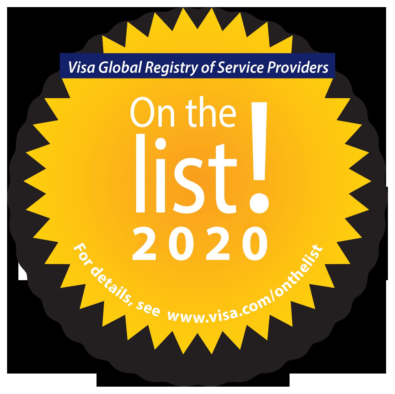 Visa Global Registry of Service Providers 2020